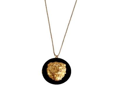 Sautoir medaillon lion bijoux pas cher