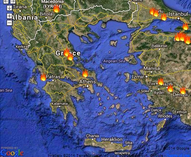 LIVE πυρκαγιές στην Ελλάδα (κλικ στην εικόνα)