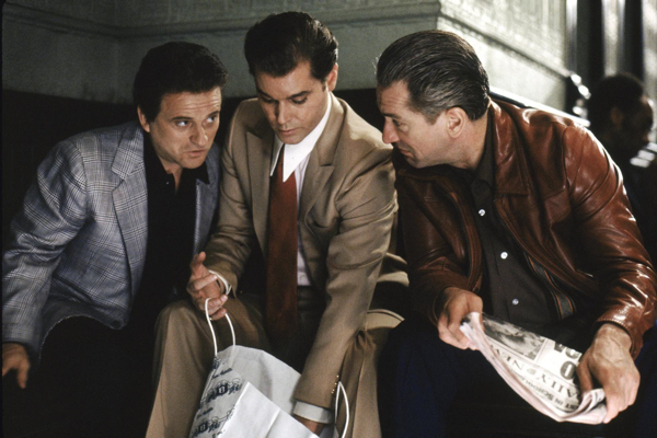 Ray Liotta, Joe Pesci, and Robert De Niro in Goodfellas