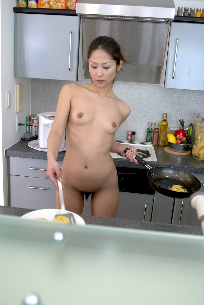 www.CelebTiger.com+Smiling+Asian+babe+Yuka+A+poses+nude+in+the+kitchen02 Asian MetArt Model Yuka A Poses Nude In Her Kitchen And Shows Us Her Round Booty Photo Gallery