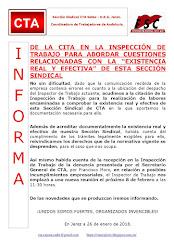 """DE LA CITA EN LA INSPECCIÓN DE TRABAJO PARA ABORDAR CUESTIONES RELACIONADAS CON LA """"EXISTENCIA REAL"""
