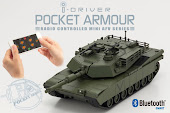 KYOSHO i-DRIVER手機控制1/60 M1A2艾布蘭戰車-軍綠色