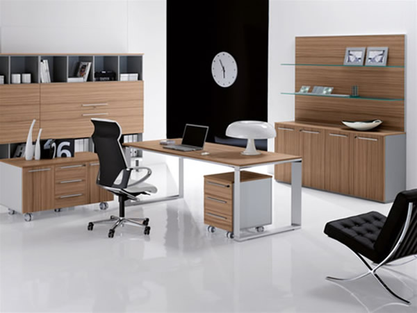 office furniture with elegant design and modern office desk and office