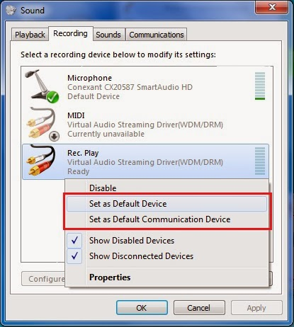 how to use virtual audio streaming