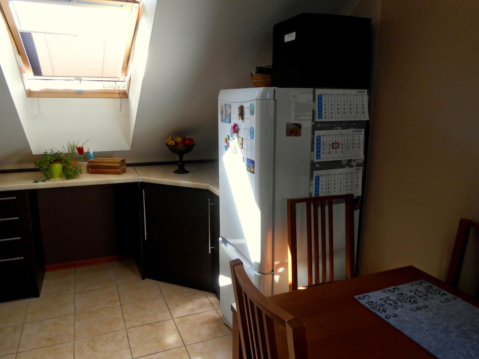 Mała kuchnia na poddaszu  Mama trojki pl -> Mala Kuchnia Ze Skosem