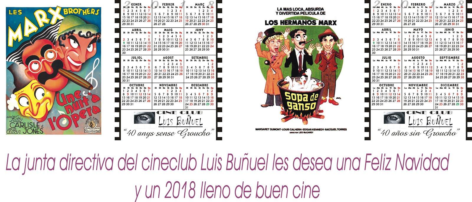 Calendarios Cine Club Luis Buñuel para el Año 2018