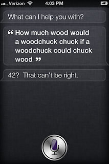 Siri: How much wood can a woodchuck chuck if a woodchuck could chuck wood?