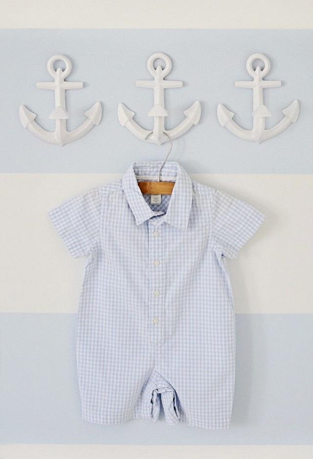 navy bebe marineros nautico anclas rallas blanco marino rojo ideas 15