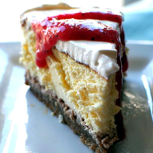 thebakedbeen: sour cream cheesecake