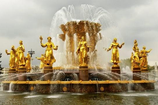 Fuente de la Amistad de los Pueblos, Moscú (Rusia)
