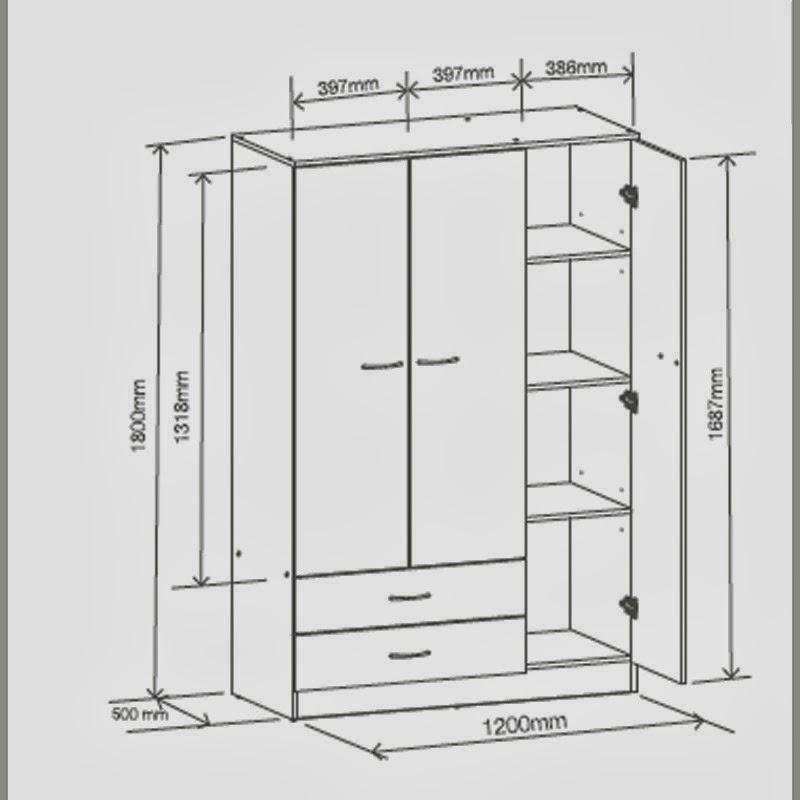 Closet y armarios fotos de dise o y decoraci n de closets - Medidas de un armario ...