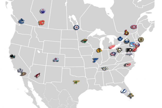 Hockey And The North American Economy Hockey Franchise Location