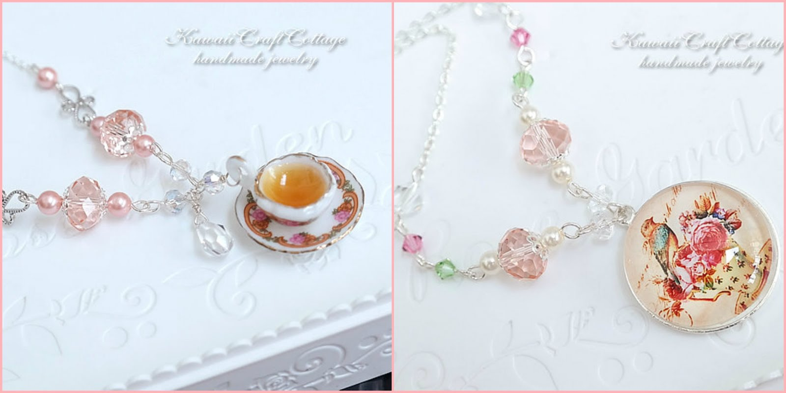 Bird & Teacup Necklaces