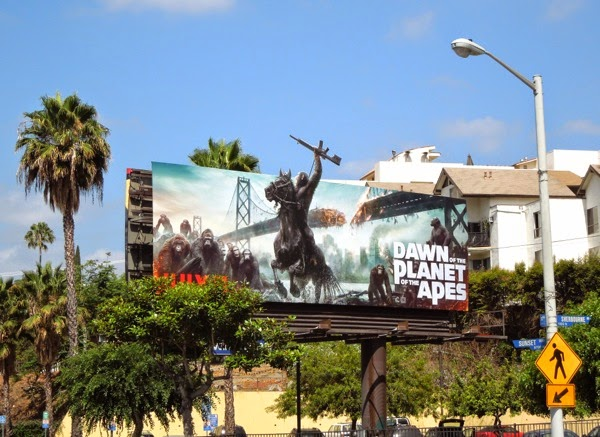 Dawn of the Planet of the Apes billboard Sunset Strip