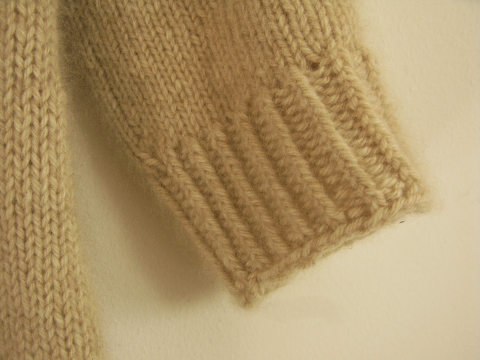 ribbed cuffs knitting pattern