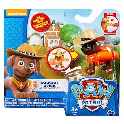 TOYS : JUGUETES - PAW PATROL : La Patrulla Canina Cowboy Zuma | Hero Pup | Figura - Muñeco Producto Oficial Serie TV Nickelodeon 2015 | A partir de 3 años Comprar en Amazon España & buy Amazon USA