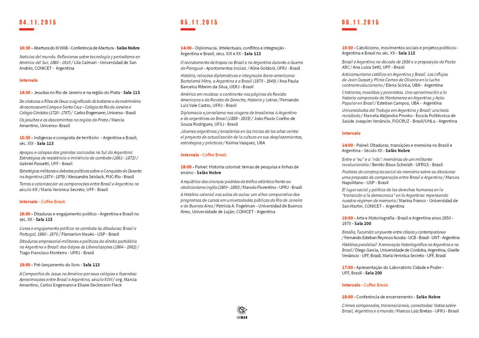 Programa del III WAB