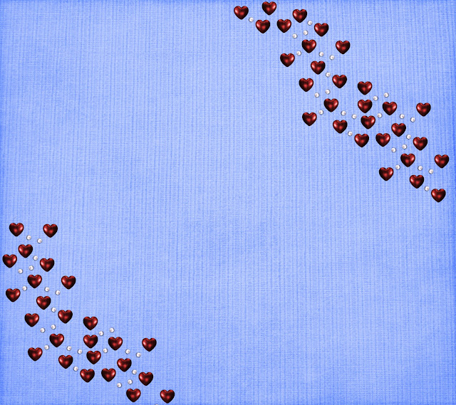 blue red hearts blogger background