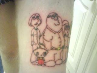 Family Guy Tattoo Design Photo Gallery - Family Guy Tattoo Ideas