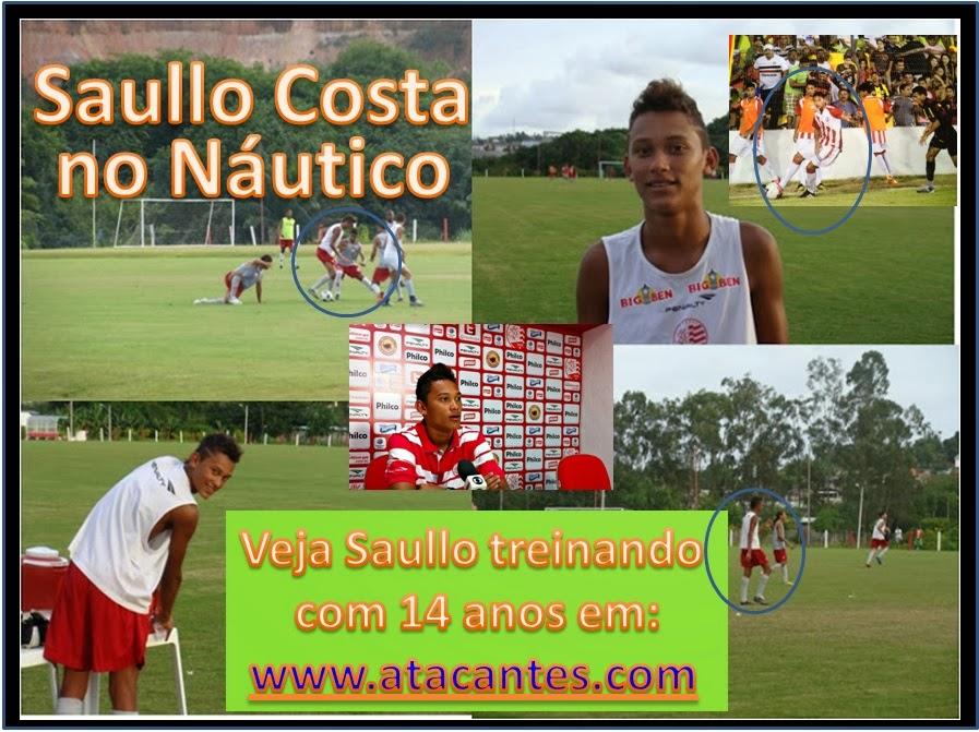 Saullo Costa no Náutico Escalado no Profissional aos 16 anos)