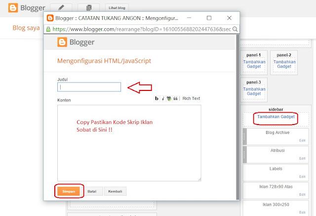 Cara Memasang Kode Iklan Adsense Dengan Mudah Pada Blog