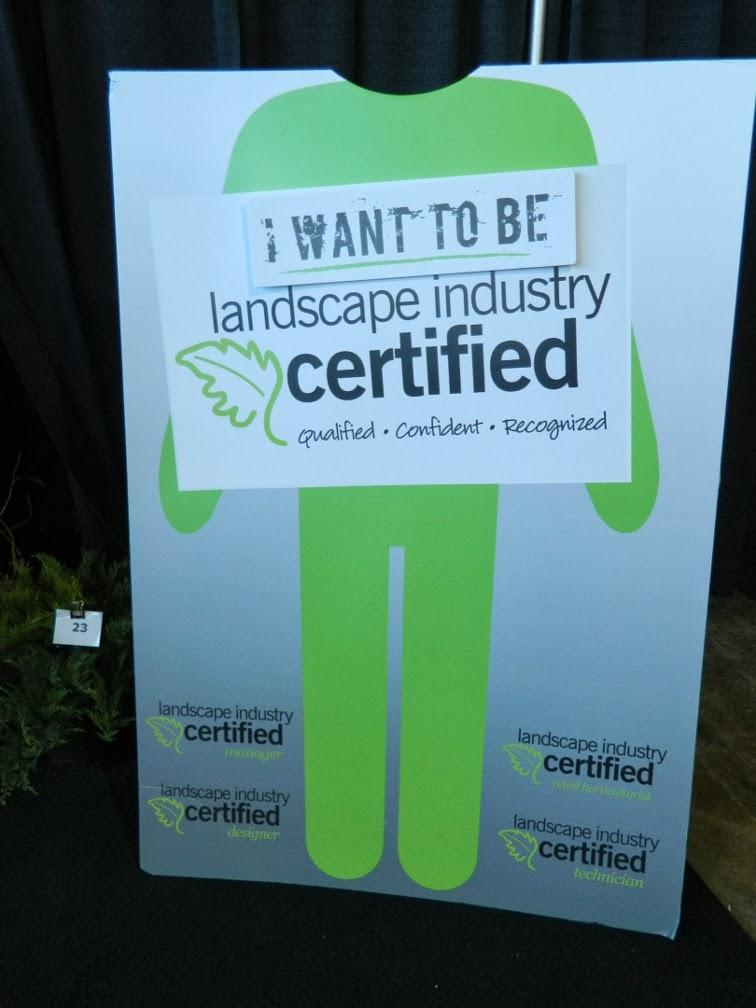 Landscape Ontario 2014 Congress certification by garden muses-a Toronto gardening blog