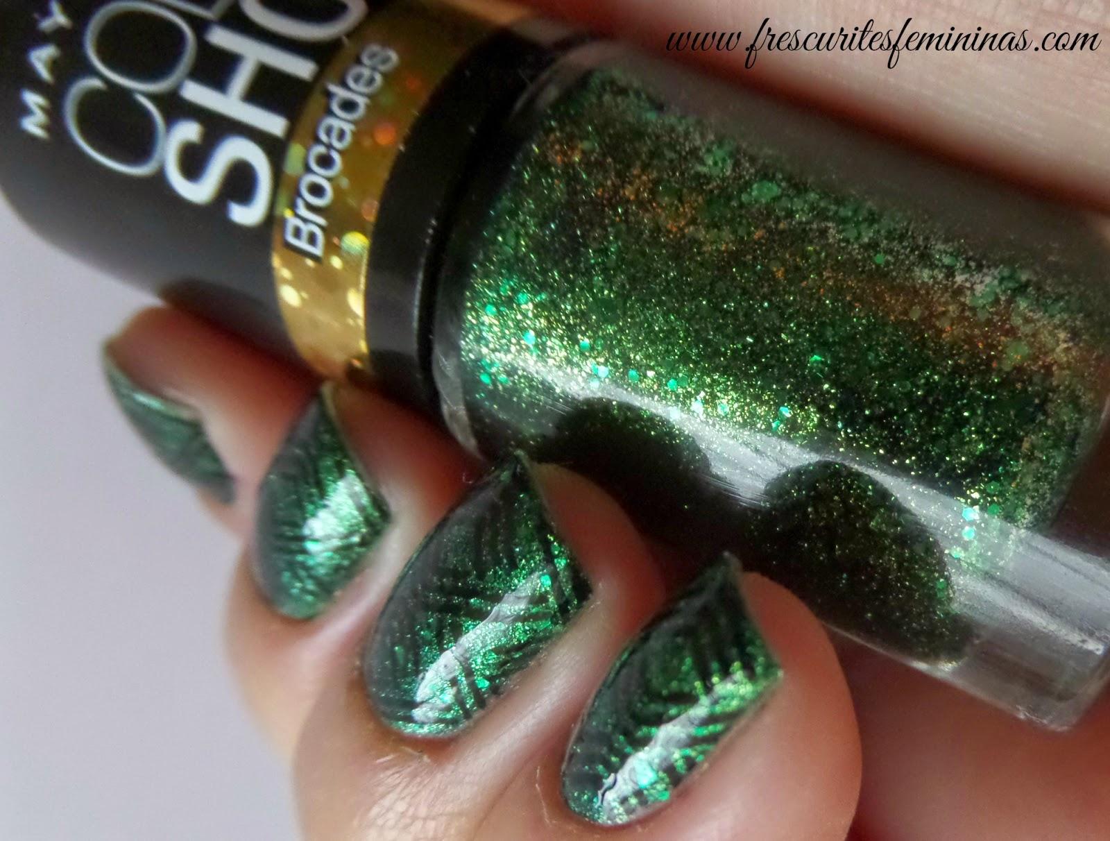 Maybelline, Emerald Elegance, Frescurites Femininas, Brocades, Mundo de Uñas