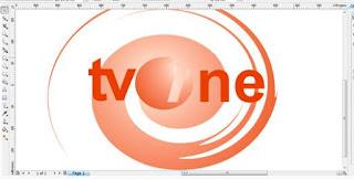 Belajar Membuat Logo TVONE di CorelDraw