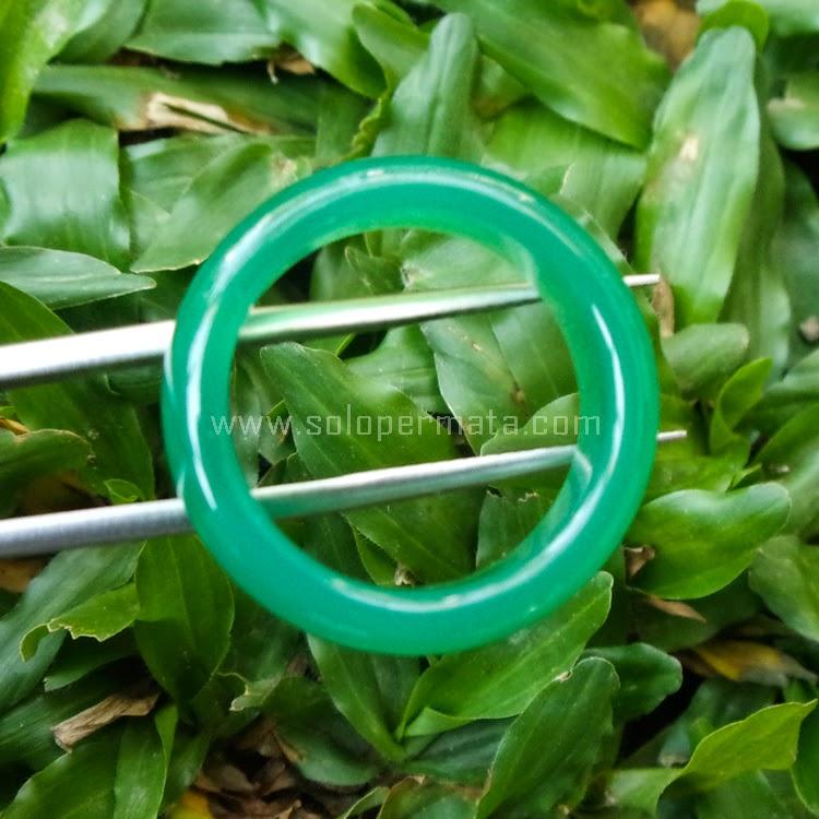 Cincin Batu Permata Green Calchedony - SP572