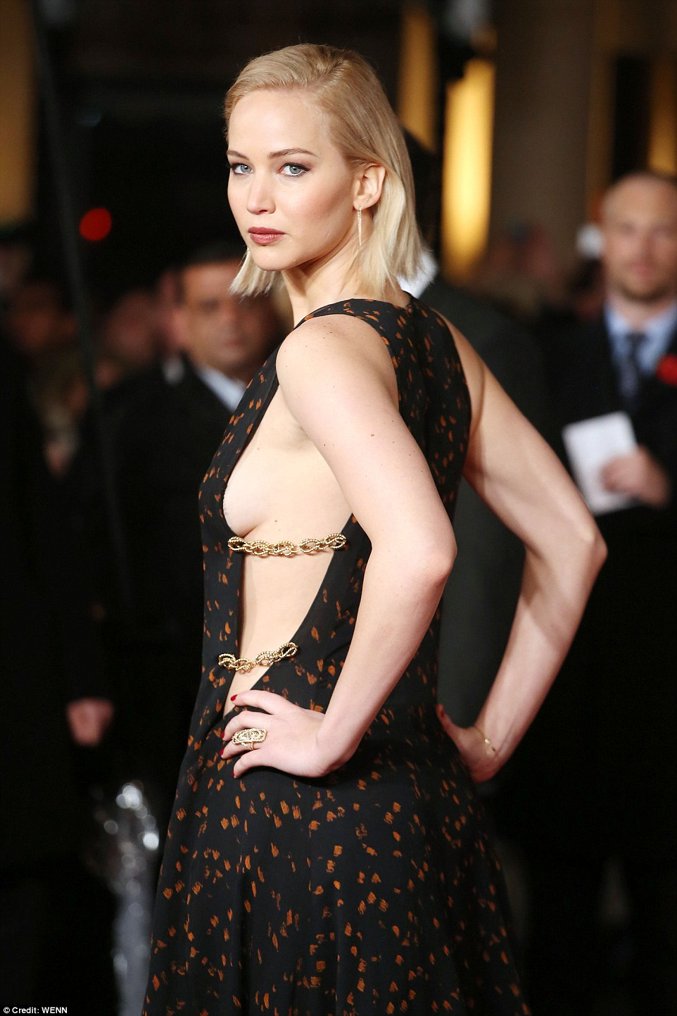 Jennifer Lawrence in Dior at London Premiere of Hunger Games Mockingjay Part 2