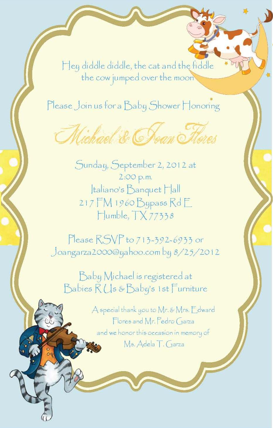 monkeys and more nursery rhyme baby shower invitations