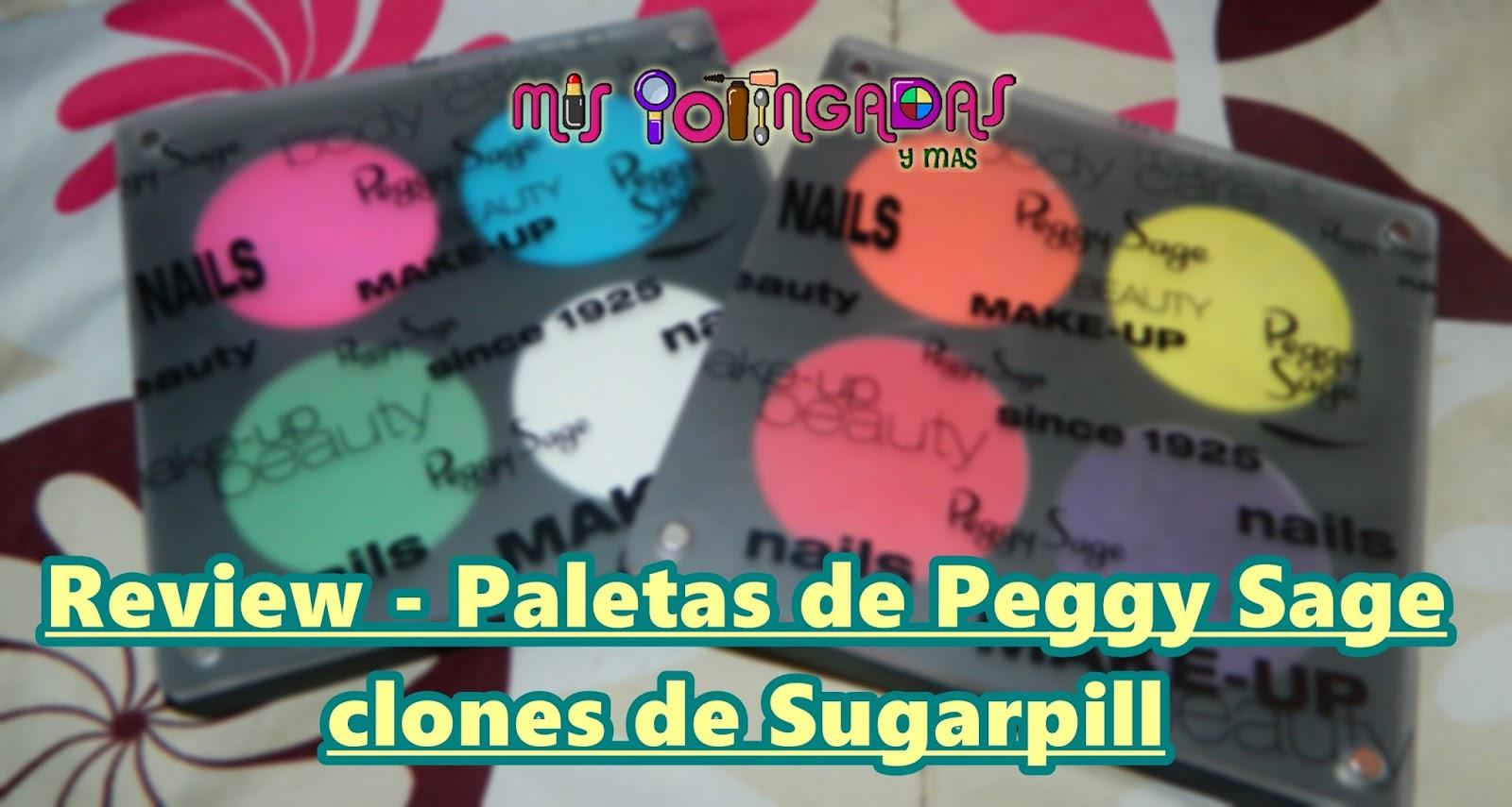 Review - Paletas de Peggy Sage clones de Sugarpill