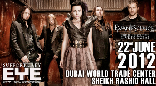 Evanescence Set to Perform in Dubai Concert