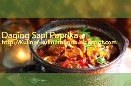 resep masakan daging sai paprika, cara memasak daging sapi paprika