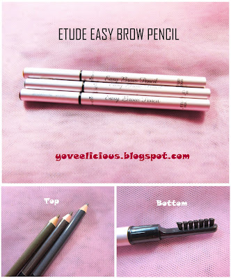 yoveelicious etude easy brow pencil review and swatches