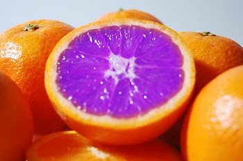 halved purple orange