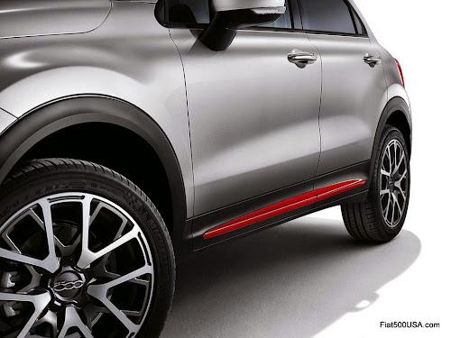 Fiat 500X Red Door Moulding Insert