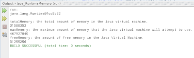Get runtime memory with Java code