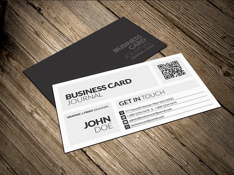 Modern Metro Business Card PSD Template