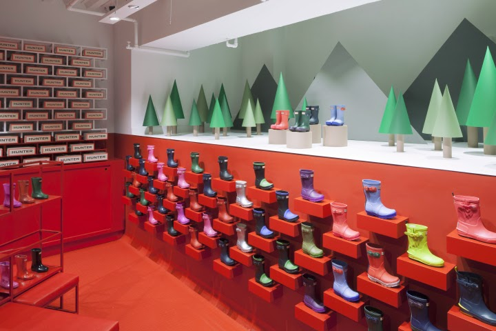 Hunter flagship store, Londres, por Checkland Kindleysides