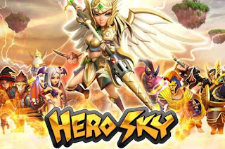 Screenshots of the Hero sky: Epic guild wars for Android tablet, phone.