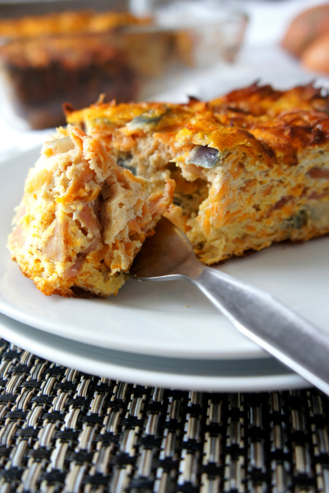 Sweet Potato and Bacon Frittata | The Road to Less Cake
