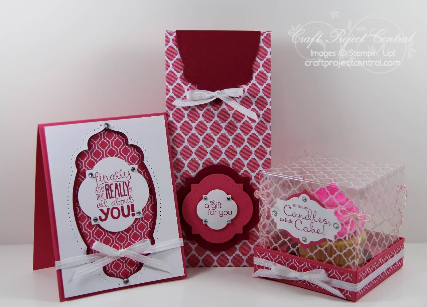 Cupcake Box Gift Set