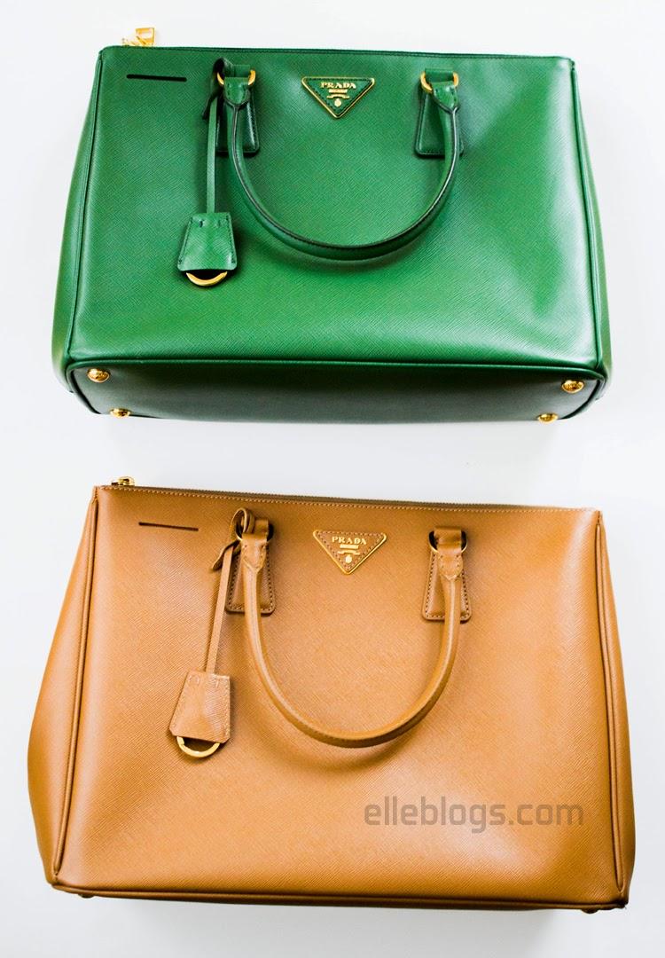 prada blue leather handbag - Review: Prada Saffiano Medium Double Zip Top-Handle Bag ( BN2274 ...