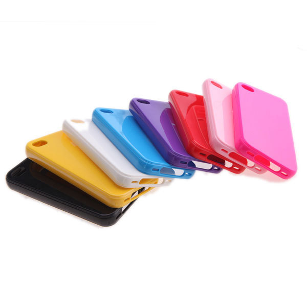 Glossy Surface TPU Protective Case Cover for Apple iPhone 4 4S Multi-Color