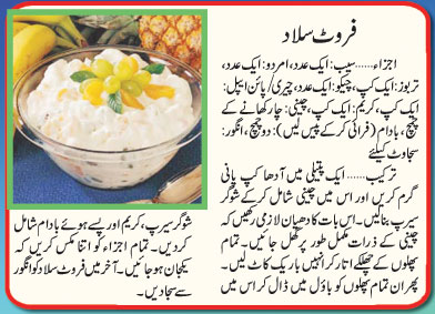 Fruit Salad Recipe In Urdu