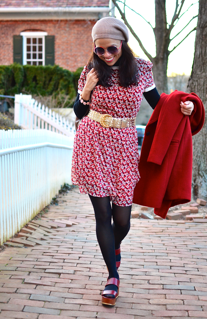 Wearing a dress on cold weather