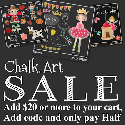 Chalk Board Clipart Sale