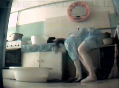 Hidden camera in the kitchen (hostel)