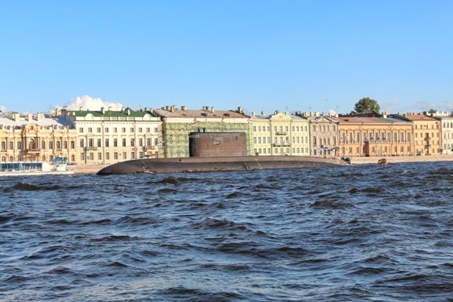 Submarino en el Almirantazgo de San Petersburgo